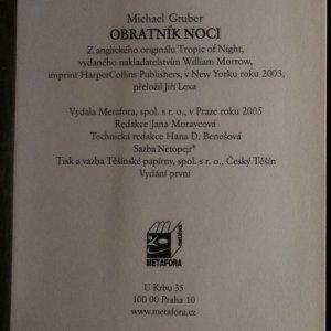antikvární kniha Obratník noci, 2005