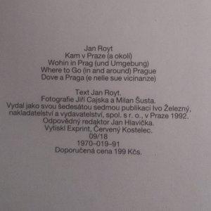 antikvární kniha Kam v Praze a okolí, 1992