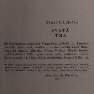 antikvární kniha Svatá tma (1. díl), 1959
