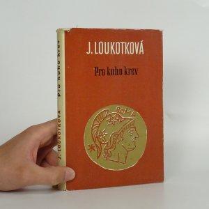 náhled knihy - Pro koho krev