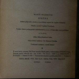 antikvární kniha Siréna, neuveden