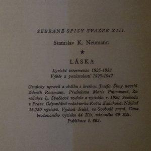 antikvární kniha Láska. Lyrické intermezzo , 1950