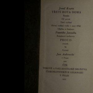 antikvární kniha Třetí rota. Třetí rota na magistrále. Třetí rota doma. (6 svazků.), 1935
