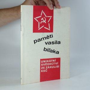 náhled knihy - Paměti Vasila Biľaka. I. díl