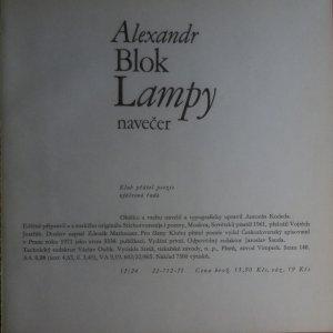 antikvární kniha Lampy navečer, 1971