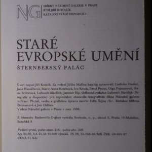 antikvární kniha Staré evropské umění, 1988