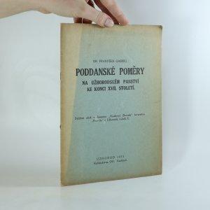 náhled knihy - Poddanské poměry na užhorodském panství ke konci XVII. století (asi podpis autora)