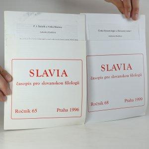náhled knihy - Slavia (ročník 65 a 68)
