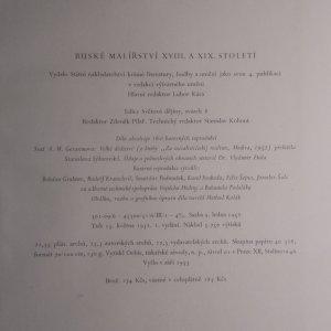 antikvární kniha Ruské malířství XVIII. a XIX. století, 1953