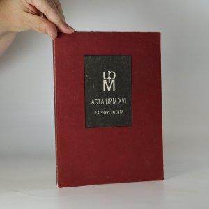 náhled knihy - Sluneční hodiny ze sbírek UPM v Praze (Acta UPM XVI, D 4. supplementa, 1984)
