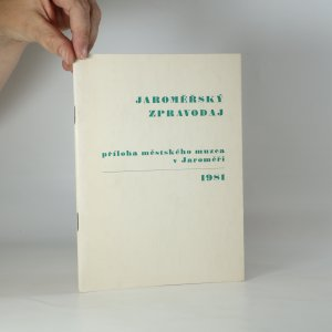 náhled knihy - Jaroměřský zpravodaj (příloha Městského muzea v Jaroměři, 1981)