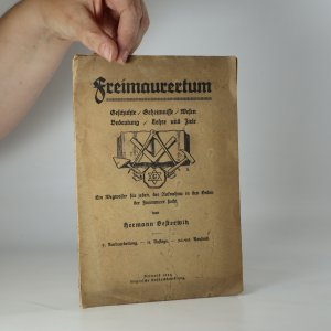 náhled knihy - Freimaurertum. Geschichte, Geheimnisse, Wesen, Bedeutung, Lehre und Ziele)