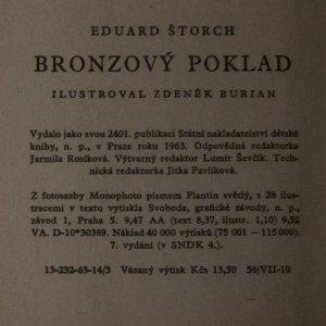 antikvární kniha Bronzový poklad, 1963