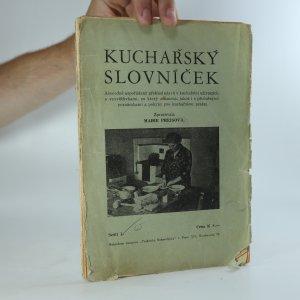 náhled knihy - Kuchařský slovníček