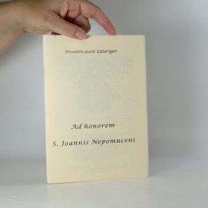 náhled knihy - Ad honorem S. Joannis Nepomuceni (divadelní program)