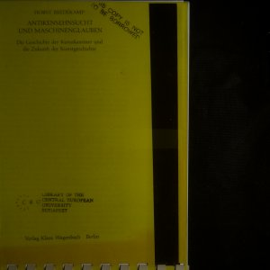 antikvární kniha Antikensehnsucht und Maschinenglauben, neuveden