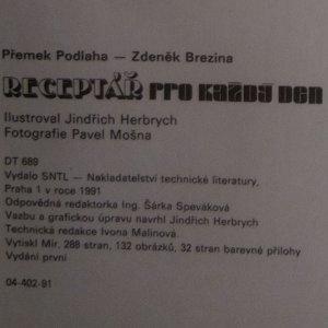 antikvární kniha Receptář na každý den, 1991