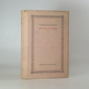 náhled knihy - Mikuláš Nickleby (2. díl)