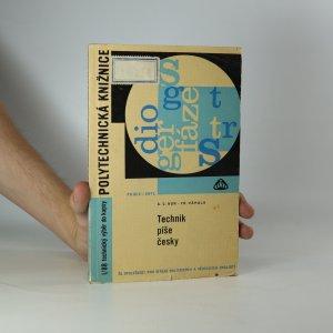 náhled knihy - Technik píše česky