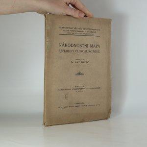 náhled knihy - Národnostní mapa republiky Československé