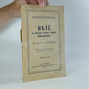 náhled knihy - Klíč k určování nižších rostlin tajnosnubných (je cítit zatuchlinou)