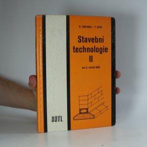 náhled knihy - Stavební technologie II pro 2. ročník SOU