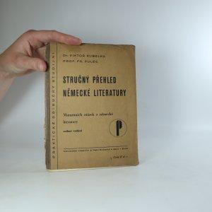 náhled knihy - Stručný přehled německé literatury