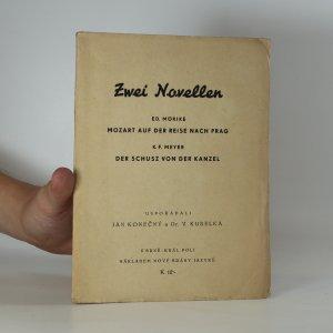 náhled knihy - Zwei Novellen : Mozart auf der Reise nach Prag. Der Schusz von der Kanzel