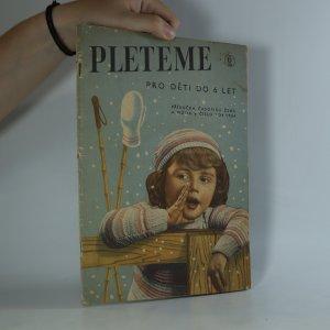 náhled knihy - Pleteme pro děti do 6 let