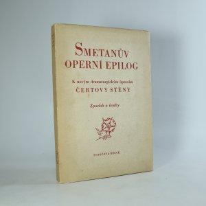 náhled knihy - Smetanův operní epilog