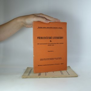 antikvární kniha Přehled české literatury (II.-III. díl), 1947