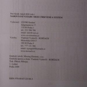 antikvární kniha Narovnání vztahu mezi církvemi a státem, 2009