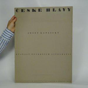 náhled knihy - České hlavy. 12 původních litografií