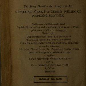 antikvární kniha Německo-český a česko-německý kapesní slovník, 1965