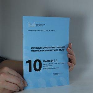 náhled knihy - Metodické doporučení k činnosti územních samosprávných celků. 10. Doplněk č. 1.