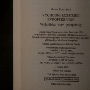 antikvární kniha Východní rozšíření Evropské unie. Východiska, stav, perspektivy, 2001
