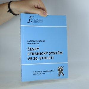 náhled knihy - Český stranický systém ve 20. století