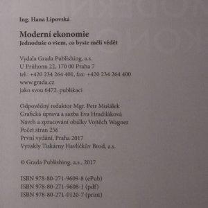 antikvární kniha Moderní ekonomie, 2017
