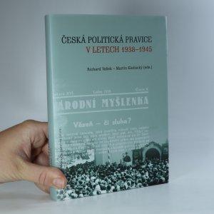 náhled knihy - Česká politická pravice v letech 1938-1945