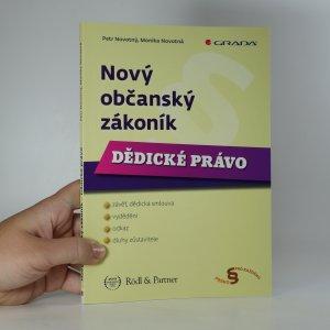 náhled knihy - Nový občanský zákoník. Dědické právo