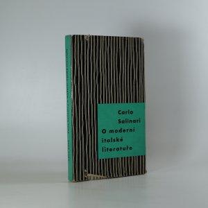náhled knihy - O moderní italské literatuře
