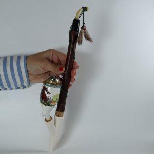 náhled knihy - Dýmka (fajfka) porcelánová s jelenem, nekouřená
