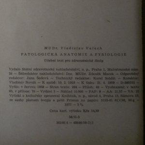 antikvární kniha Patologická anatomie a fysiologie, 1959