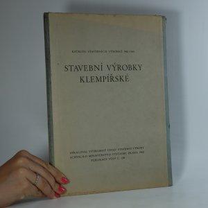 náhled knihy - Stavební výrobky klempířské. Katalog stavebních výrobků 1961-1965.