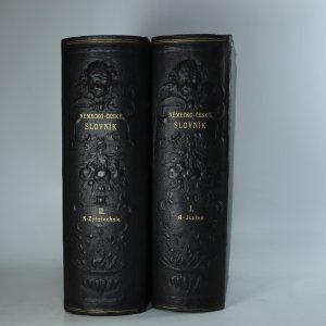 antikvární kniha Německo-český slovník I-II. díl (2 svazky), neuveden