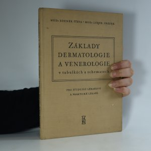 náhled knihy - Základy dermatologie a venerologie v tabulkách a schematech  (kniha je cítit kouřem)