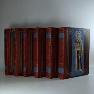 náhled knihy - Dějiny národu českého v Čechách a v Moravě. (I.-VI. díl v šesti vazbách; knihy jsou cítit kouřem)