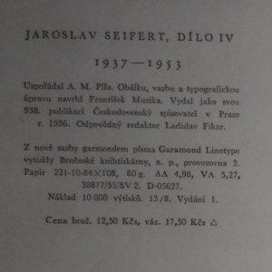 antikvární kniha Dílo IV. (kniha je cítit kouřem), 1956