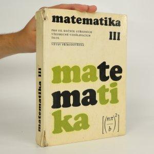 náhled knihy - Matematika III