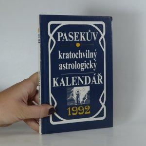náhled knihy - Pasekův kratochvilný astrologický kalendář 1992